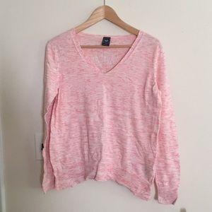 Gap Coral Pink V-Neck Sweater